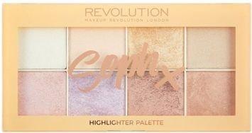 MAKEUP REVOLUTION Paleta 8 rozświetlaczy SophX Highlighter Palette 16g