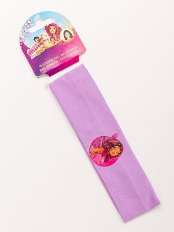 MIA I JA Liliowa elastyczna opaska do włosów dla dziewczynki