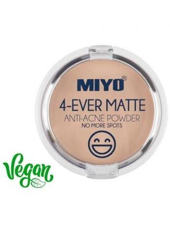 MIYO 4-EVER MATTE POWDER Puder do cery trądzikowej 9,56 g
