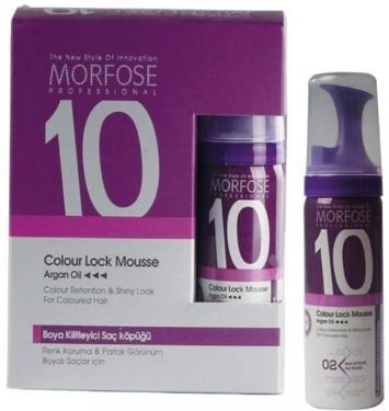 MORFOSE 10 PIANKA COLOUR LOCK zatrzymująca kolor do włosów farbowanych 6 x 50 ml