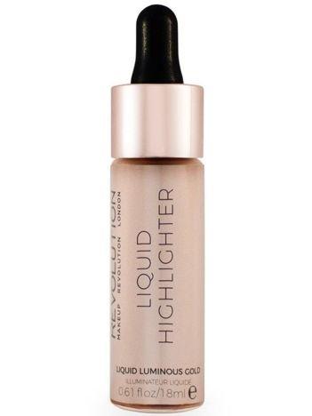 Makeup Revolution Liquid Highlighter Rozświetlacz w płynie Liquid Luminous Gold 18 ml