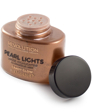 Makeup Revolution Pearl Lights Loose Highlighter Puder sypki rozświetlający Candy Glow 25 g