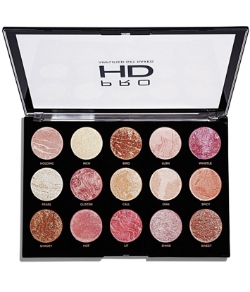 Makeup Revolution Pro HD Amplified 15 Palette Zestaw do konturowania twarzy Get Baked 37 g