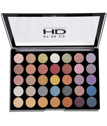 Makeup Revolution Pro HD Amplified 35 Palette Cienie do powiek Exhilarate 30g (35 kolorów)