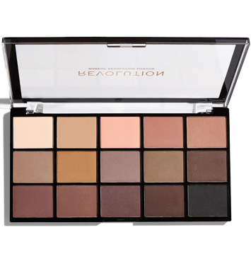 Makeup Revolution Re-Loaded Paleta cieni do powiek Basic Mattes 16,5 g