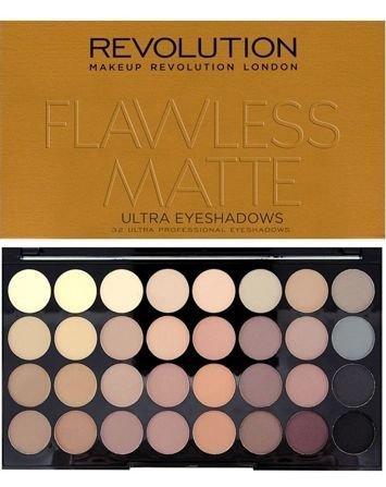 Makeup Revolution Ultra Palette Paleta 32 cieni Flawless Matte 16g