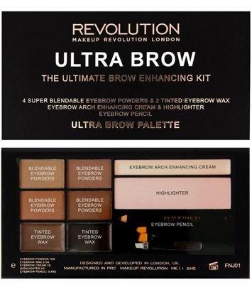 Makeup Revolution Zestaw do stylizacji brwi Ultra Brow Medium to Dark