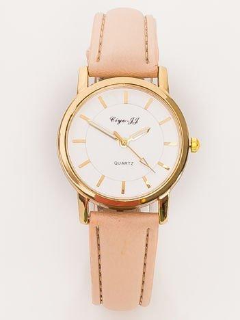 Mały Beżowy Zegarek Damski