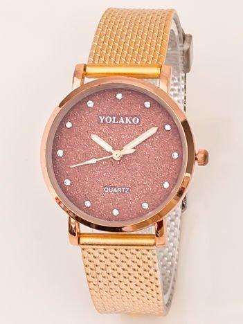 Mały Złoty Zegarek Damski Z Tarczą GLITTER
