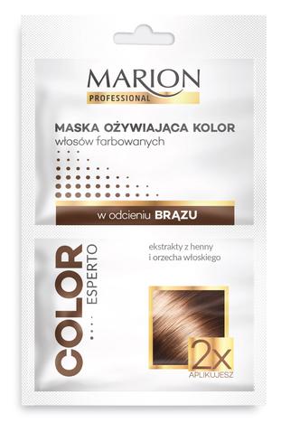 Marion Color Esperto MASKA OŻYWIAJĄCA KOLOR WŁOSÓW FARBOWANYCH w odcieniu brązu 2x20ml