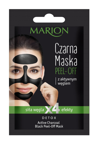 """Marion Detox Aktywny Węgiel Maska czarna peel-off  6g"""""""