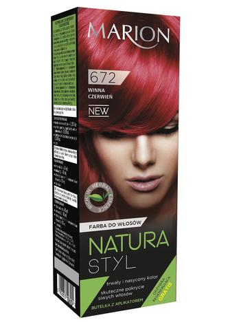 Marion Farba do włosów Natura Styl nr 672 winna czerwień