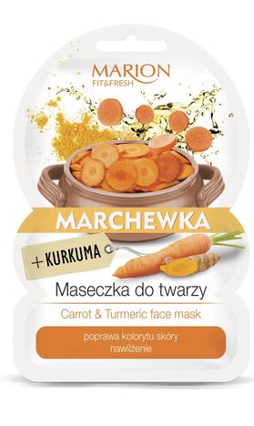 "Marion Fit & Fresh Maseczka do twarzy Marchewka+Kurkuma  9g"""