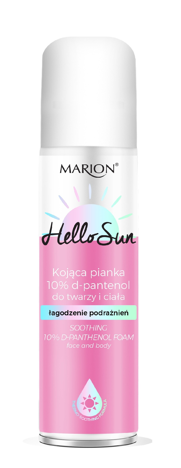 "Marion Hello Sun Kojąca Pianka do twarzy i ciała - 10% d-pantenol  150ml"""