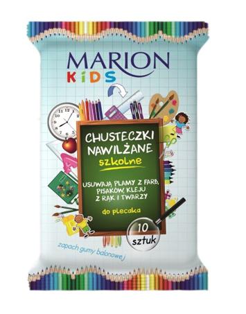 Marion Kids Chusteczki nawilżane SZKOLNE 10 szt.