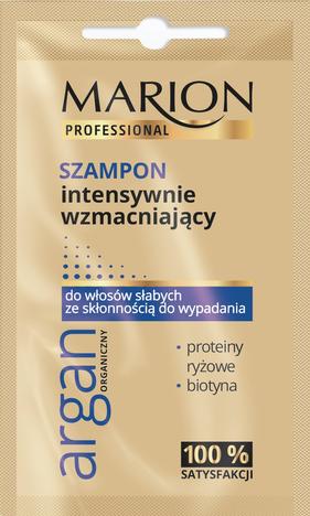 Marion Professional Argan Organiczny Szampon intensywnie wzmacniający 10g - saszetka
