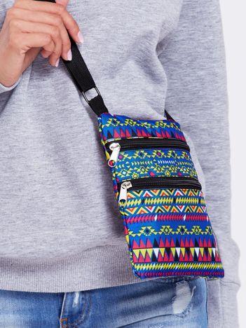 Materiałowa saszetka w azteckie wzory