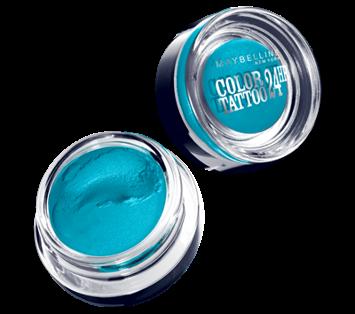 Maybelline Color Tattoo 24H Kremowo-żelowy cień do powiek nr 20 Turquoise Forever 4 ml
