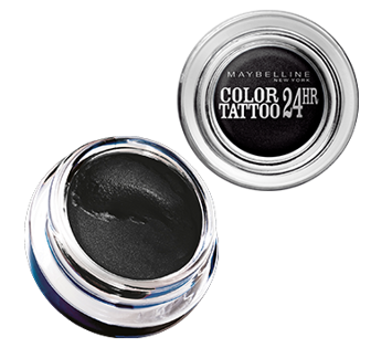 Maybelline Color Tattoo 24H Kremowo-żelowy cień do powiek nr 60 Black 4 ml