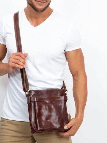 Męska torba skórzana brązowa