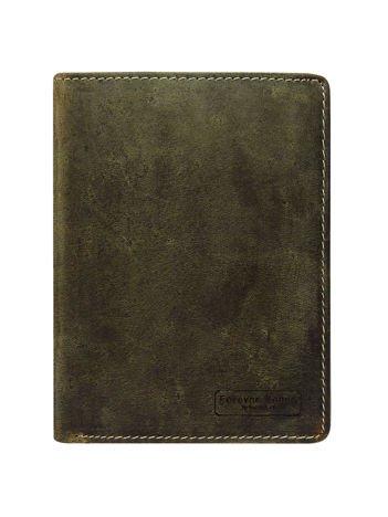 Męski brązowy portfel otwarty