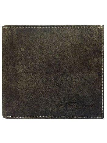 Męski brązowy portfel skórzany otwarty