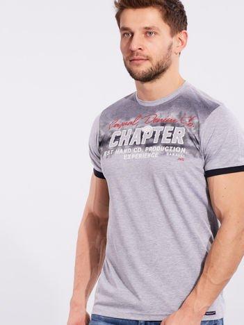Męski t-shirt bawełniany szary