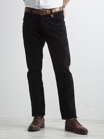 Męskie spodnie materiałowe czarne