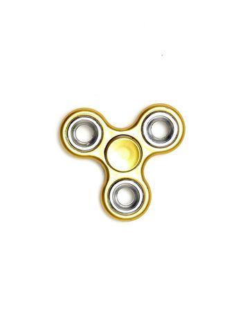 Metalowy matowy hand fidget spinner złoty