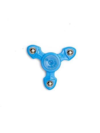 Metalowy niebieski fidget spinner z ozdobnymi kulkami