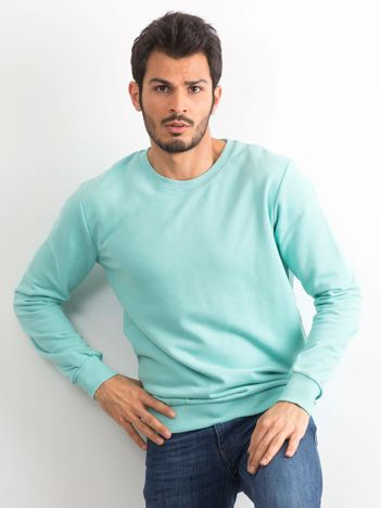 Miętowa bawełniana bluza męska