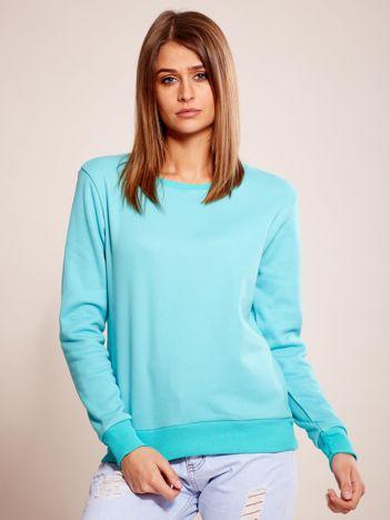 Miętowa bluza basic