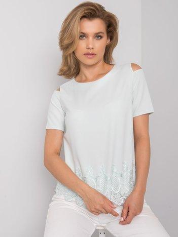 Miętowa bluzka wizytowa Eliane