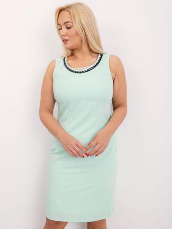 Miętowa plus size sukienka Midnight