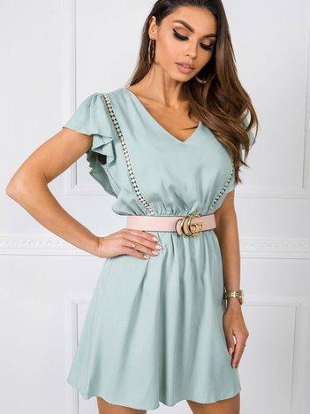 Miętowa sukienka Adel RUE PARIS