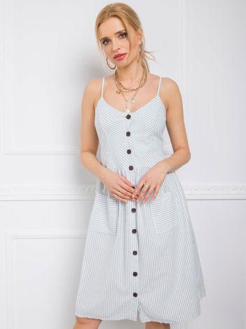 Miętowa sukienka Buenos RUE PARIS