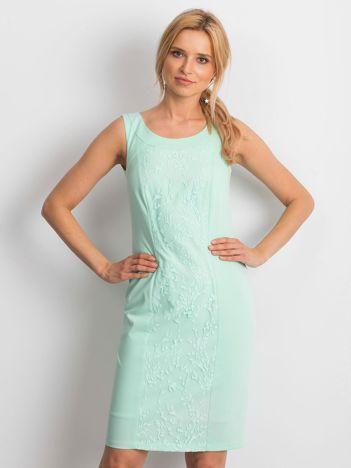 Miętowa sukienka Chastity
