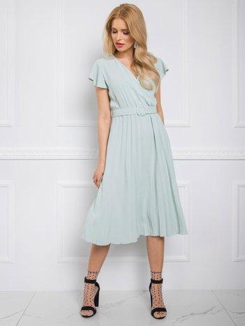 Miętowa sukienka Dalilah RUE PARIS