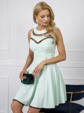 Miętowa sukienka Evelyn