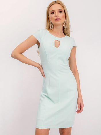 Miętowa sukienka Hazel