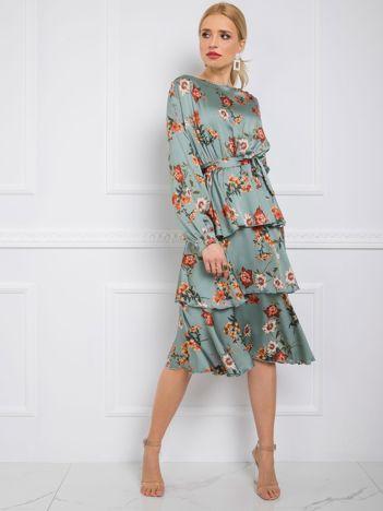 Miętowa sukienka Liz