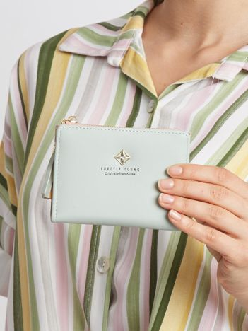 Miętowy mały portfel
