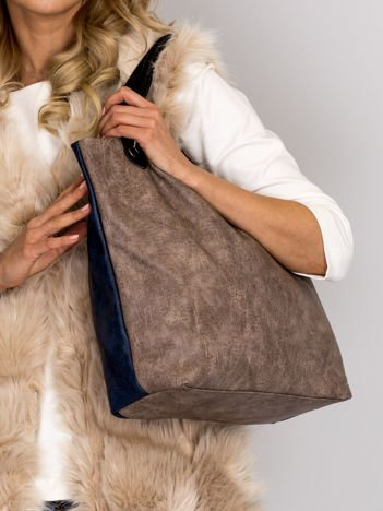 Modułowa miękka torba beżowa