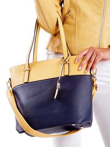 Modułowa torba shopper bag ciemnoniebieska