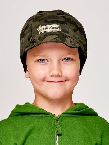 Moro czapka chłopięca z daszkiem i naszywką NO LIMIT zielona
