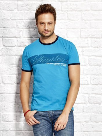 Morski t-shirt męski z nadrukiem