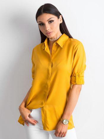 Musztardowa bawełniana koszula