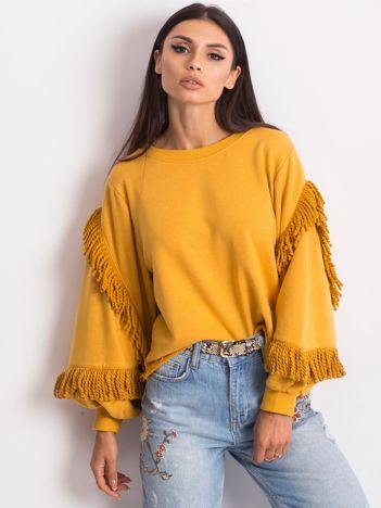 Musztardowa bluza Silvia