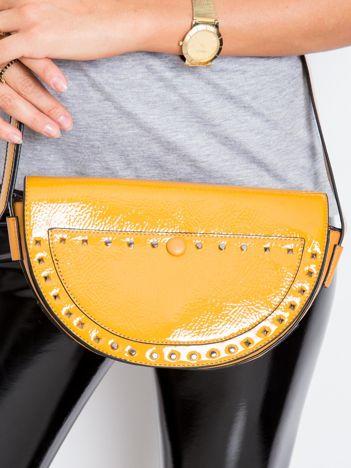 Musztardowa torebka saddle bag