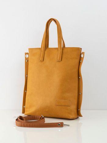 Musztardowo-brązowa torba damska